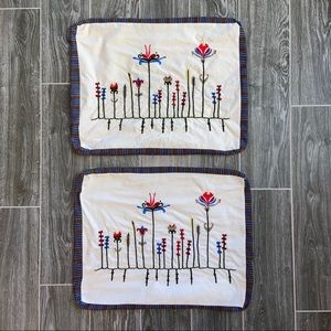 IKEA Birgit Set of 2 Embroidered Pillow Covers